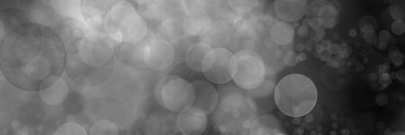 Black and white panoramic bokeh background of glittering lights Archivio Fotografico - 129479498