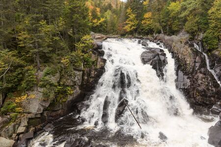 Chute du Diable. Waterfall at Mont Tremblant National Park. Quebec. canada Stock fotó