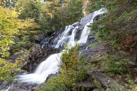 Long Exposure of La Chute-aux-Rats waterfall at Mont Tremblant National Park. Quebec. canada