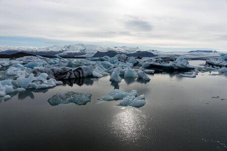 View of the glacier lagoon Jokulsarlon in Iceland