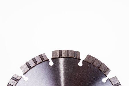 Diamond cutting disc for concrete isolated on the white background