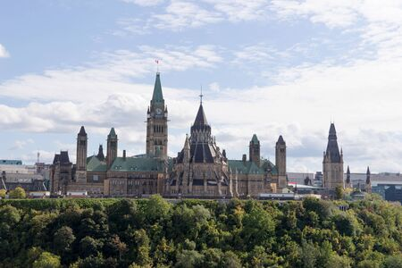 View of the Parliament Buildings in Ottawa. Ontario. canada 版權商用圖片 - 136114507