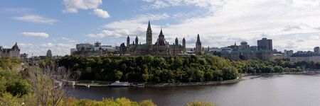 View of the Parliament Buildings in Ottawa. Ontario. Canada. Panoramic image Stock fotó