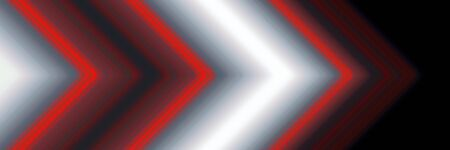 Abstract red, white and black light line arrow direction. Modern futuristic background illustration 版權商用圖片