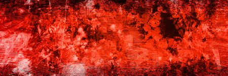 Abstract panoramic red and black background with copy space