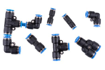 Many kind of plastic quick coupling or fittings equipment connector for air