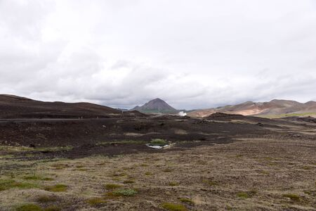 Typical volcanic landscape on the island of Iceland. Europe