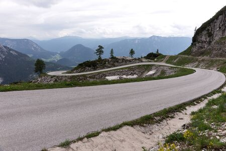 The 9 km-long curved panorama road named Loser Panoramastrasse. Austria