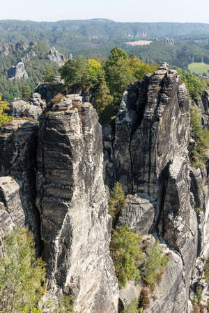 The Elbe Sandstone Mountains are a sandstone massif on the upper reaches of the Elbe River in Germany. Europe