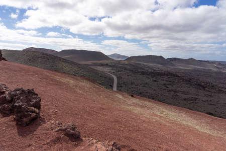 Unique volcanic landscapes of Timanfaya National Park. Lanzarote, Canary islands