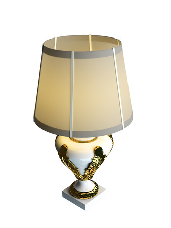 table lamp: 3D rendering of a table lamp, isolated on white background