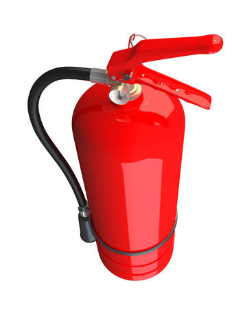 3D rendering of a fire extinguisher, isolated on white background Stock Photo