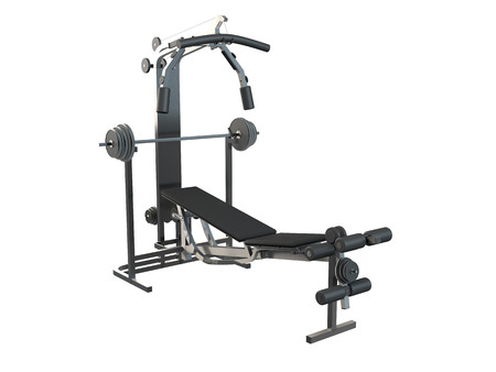 barre: 3D rendering of a training apparatus, isolated on white background