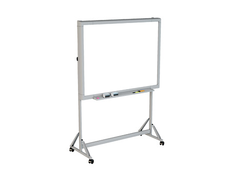 empty office: 3D rendering of a marker board, isolated on white background Stock Photo