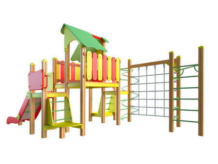3D rendering of play area, isolated on white background
