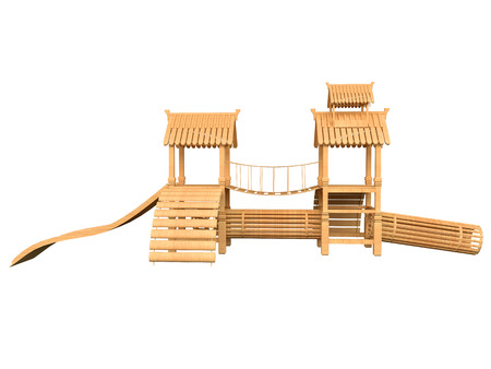 heaps: 3D rendering of play area, isolated on white background