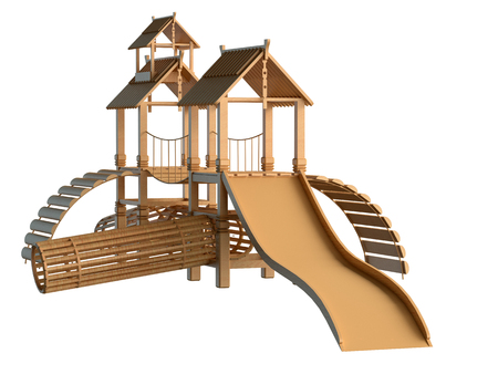 imbalance: 3D rendering of play area, isolated on white background