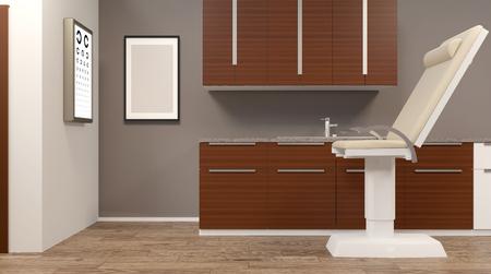 Design medical office. 3D rendering