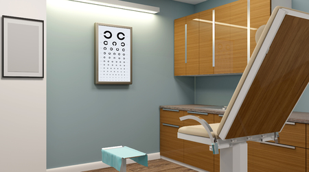 Doctors office in the hospital. 3D rendering Stock Photo