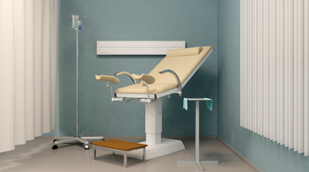gynecological: Prenatal room. Hospital. 3D rendering