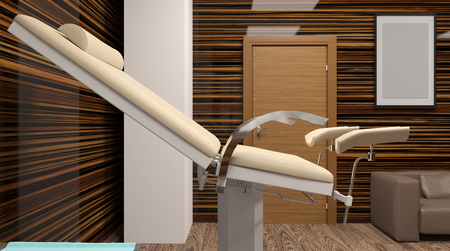 Cabinet Gynecology. Hospital. 3D rendering Stock Photo