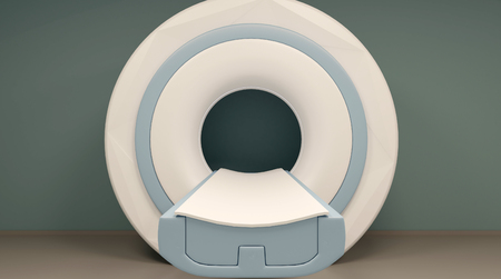resonancia magnética: MRI y pantallas. Representación 3D Foto de archivo