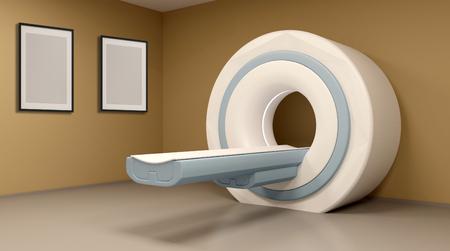 3D rendering of a MRI machine
