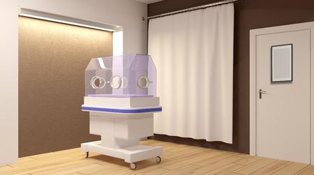 Newborn care. 3D rendering