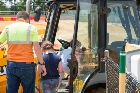 beings: WEST BERLIN, NJ - MAY 28: Diggerland USA, construction themed adventure park