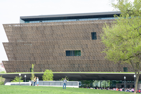 WASHINGTON, DISTRICT OF COLUMBIA - APRIL 14: Smithsonian National Museum of African American History on April 14, 2017