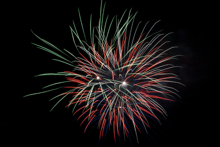 pyrotechnics: Fireworks light up the sky with dazzling display