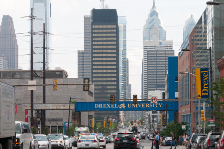 PHILADELPHIA, PA - JUNE 13: Drexel University Campus in the University City section of West Philadelphia on graduation day on June 13, 2014