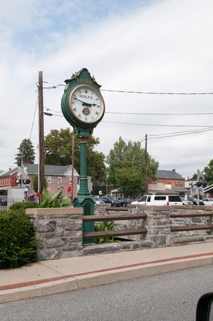 LITITZ, PA - AUGUST 30: Old Lititz Rolex Town Clock on August 30, 2014