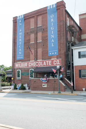 LITITZ, PA - AUGUST 30: The famed Wilbur Chocolate Company headquarters on Route 501 in Lititz on August 30, 2014