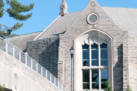 PHILADELPHIA, PA - MAY 17: Saint Josephs University campus on graduation day May 17, 2014