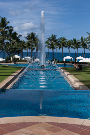 christian marriage: MAUI, HI - DECEMBER 15: The Grand Wailea, a Waldorf Astoria hotel, is one of several resorts in the exclusive Wailea area on the West shore of the Hawaiian island of Maui Editorial