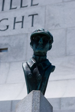 sustained: Wright Brothers National Memorial in Kitty Hawk North Carolina Stock Photo