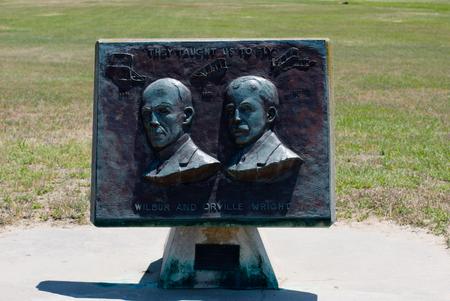 キティホーク ノースカロライナ州でライト兄弟国立記念碑 写真素材