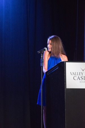 VALLEY FORGE CASINO, KING OF PRUSSIA, PA - JULY 15: Kendall speaking at Kendall s Crusade fundraising event to raise awareness of Arteriovenus Malformations AVM on July 15, 2017 Editorial