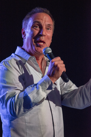 VALLEY FORGE CASINO, KING OF PRUSSIA, PA - JULY 15: Comedian Craig Shoemaker performing at Kendall s Crusade fundraising event to raise awareness of Arteriovenus Malformations AVM on July 15, 2017