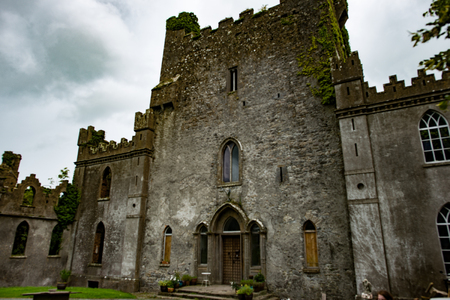 COUNTY OFFALY, IRELAND - AUGUST 23, 2017: Leap castle is one of the most haunted castles in Ireland