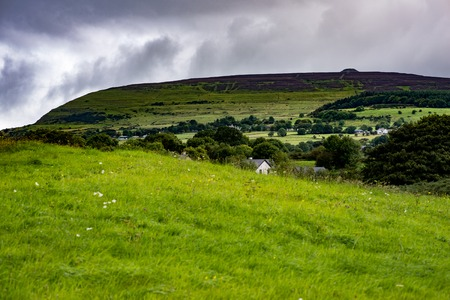 COUNTY SLIGO, IRELAND - AUGUST 25, 2017: Carrowmore Megalithic Cemetery in Sligo, Ireland