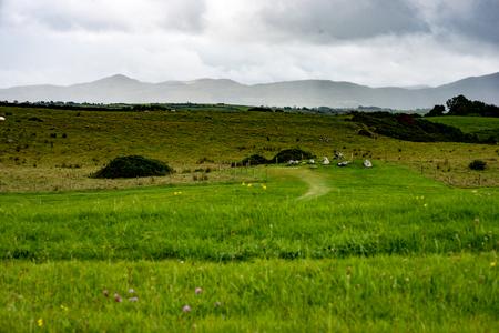 irish culture: COUNTY SLIGO, IRELAND - AUGUST 25, 2017: Carrowmore Megalithic Cemetery in Sligo, Ireland