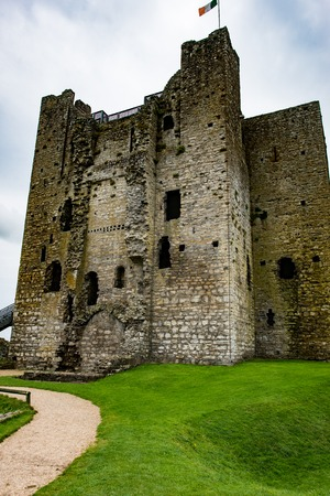 COUNTY MEATH, IRELAND - AUGUST 29, 2017: Trim Castle, used in filming of parts of the movie Braveheart, in County Meath, Ireland Editorial