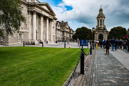DUBLIN, IRELAND - AUGUST 30: Trinity College campus, Dublin City, Ireland