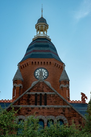 Dallas, Texas - May 7, 2018: Old Red Museum, formerly Dallas County Courthouse in Dallas, Texas