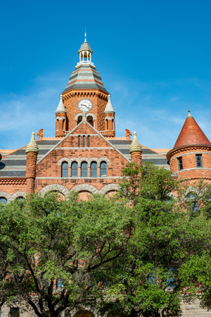 Dallas, Texas - May 7, 2018: Old Red Museum, formerly Dallas County Courthouse in Dallas, Texas Editorial