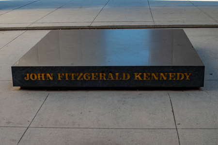 Dallas, Texas - May 7, 2018: Kennedy Memorial, a tribute to John Fitzgerald Kennedy