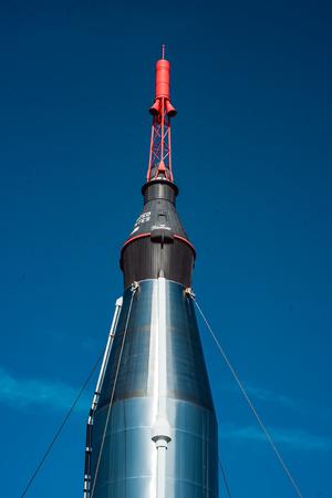Cape Canaveral, Florida - August 13, 2018: Rocket Garden at NASA Kennedy Space Center Editorial