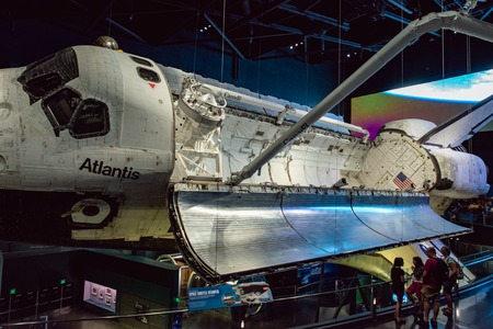 Cape Canaveral, Florida - August 13, 2018: Atlantis Space Shuttle at NASA Kennedy Space Center